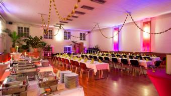 Festsaal im K*Star mit Buffet
